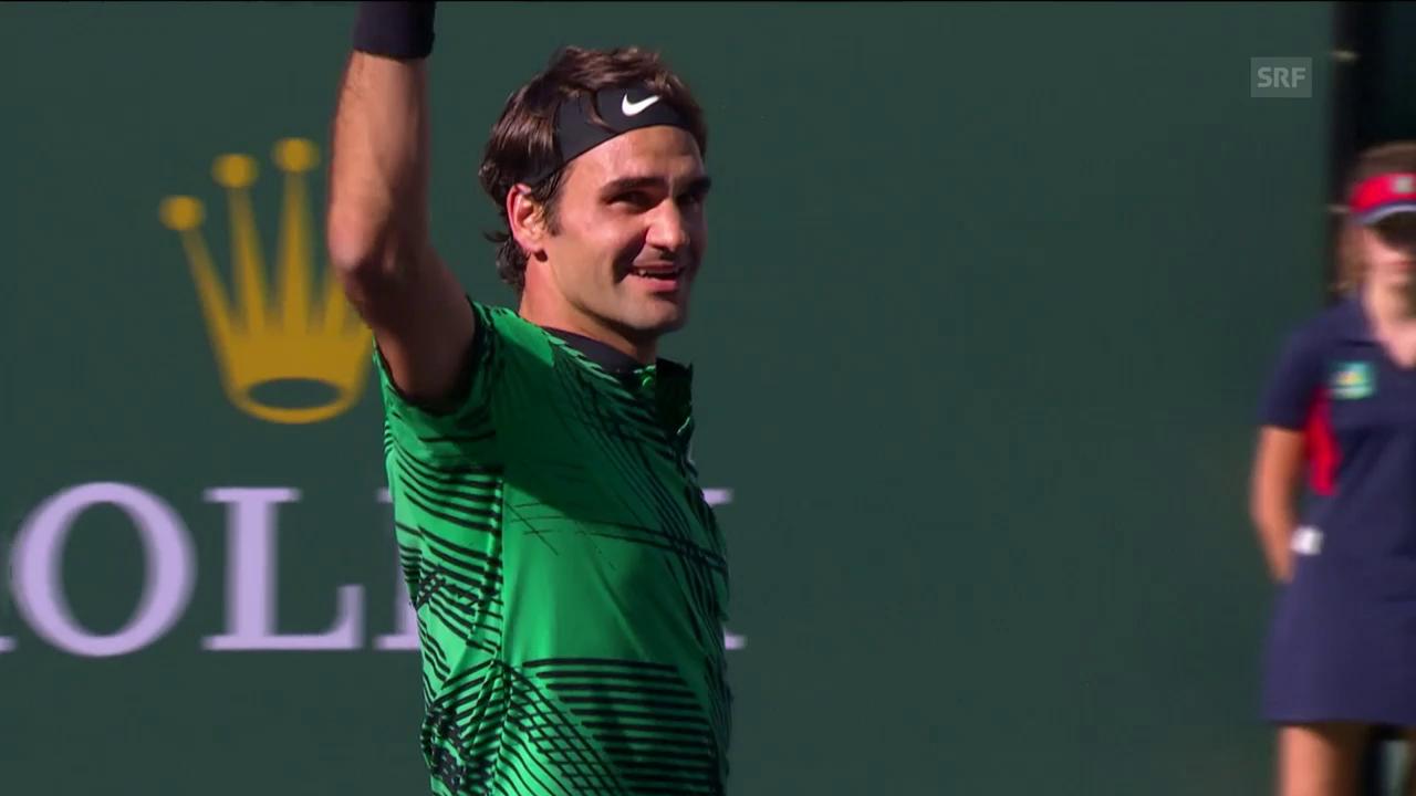 Federer - Wawrinka: Die Live-Highlights