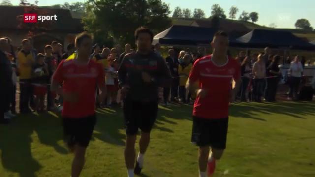 Die FCZ-Stürmer Mario Gavranovic und Josip Drmic im Fokus
