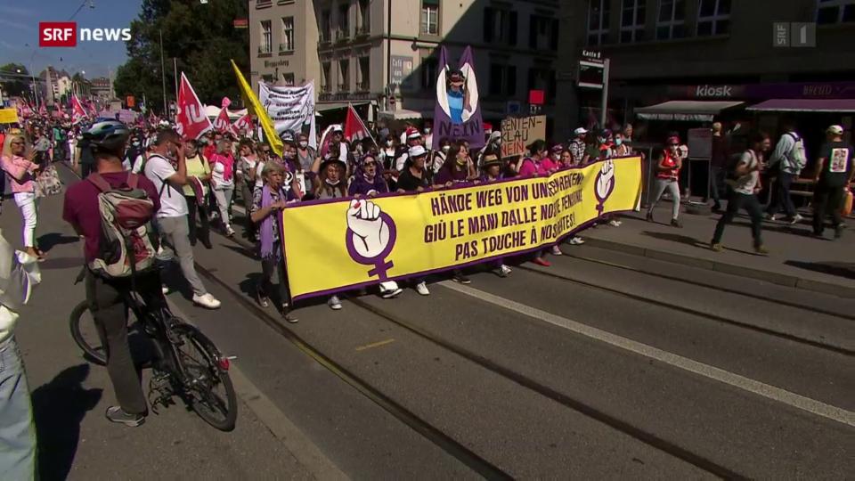 Archiv: Demonstration in Bern gegen die AHV-Reform