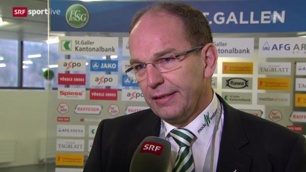 Video «Fussball: Super League, St. Galler Teamarzt Bruno Damann zur Verletzung von Roman Bürki («sportlive», 16.02.2014)» abspielen