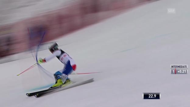 Video «Ski: Slalom Zagreb, 1. Lauf Yule» abspielen