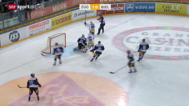 Video «Eishockey: NLA, 11. Runde, Zug - Biel» abspielen