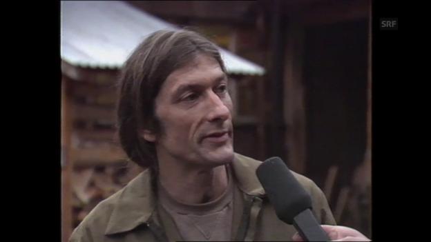 Video «Interview mit Ueli Pfenninger aus «DRS aktuell», 1989» abspielen