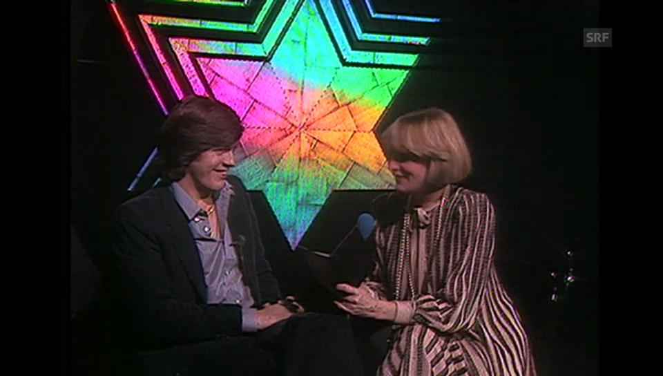 Bernhard Russi bei Heidi Adel («Musik und Gäste» vom 19.10.1978)