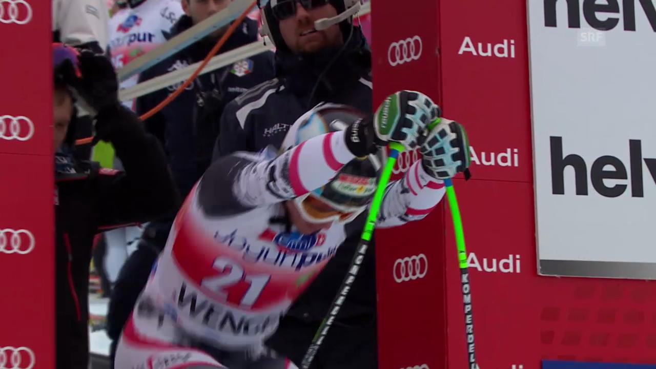 Ski: Abfahrt Wengen 2014, Fahrt von Hannes Reichelt