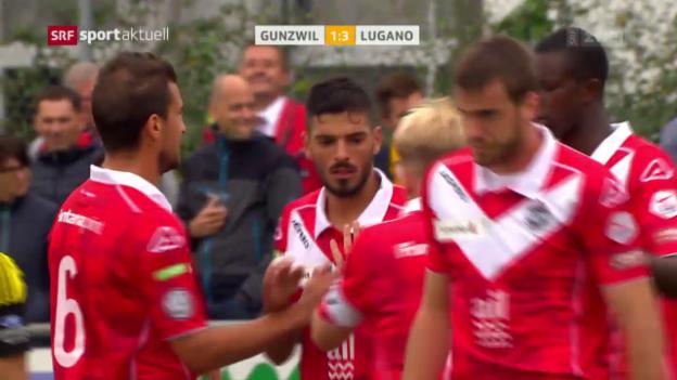Video «Lugano macht gegen Gunzwil früh alles klar» abspielen