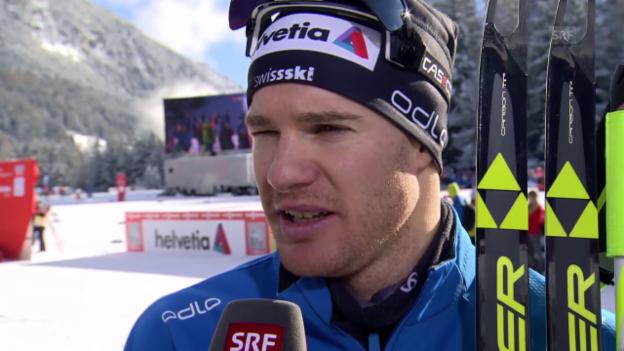 Video «Langlauf: Tour de Ski, Interview mit Dario Cologna» abspielen