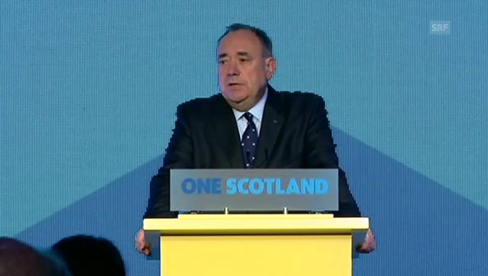 Alex Salmond räumt seine Niederlage ein