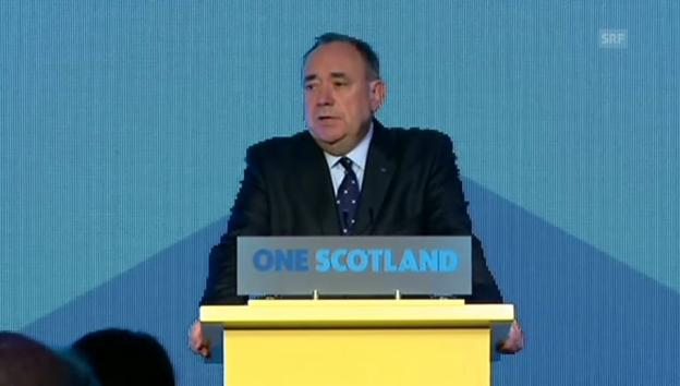 Video «Alex Salmond räumt seine Niederlage ein» abspielen