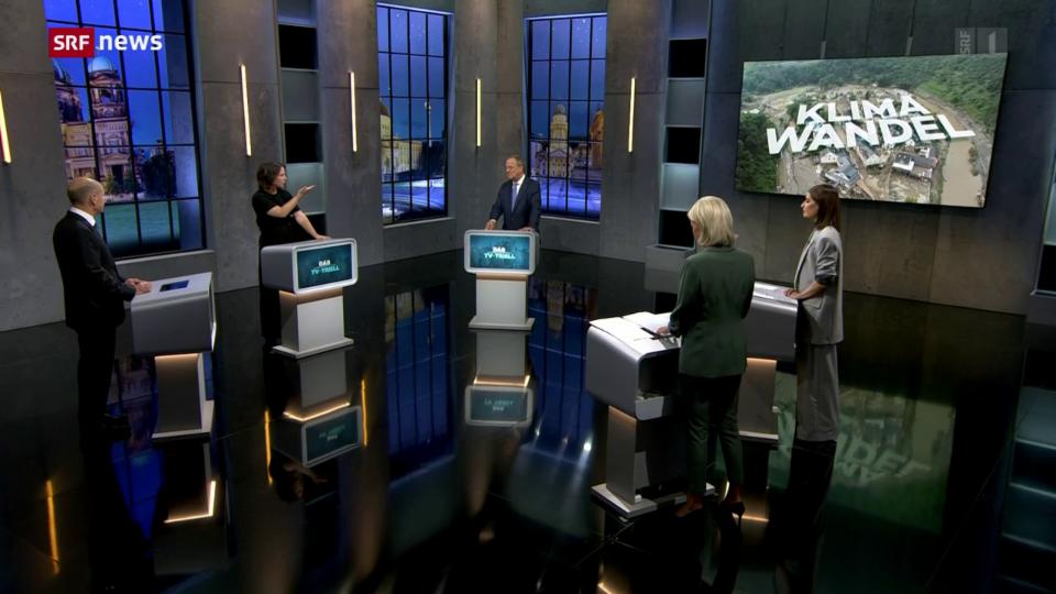 Deutschland: Letzter TV-Dreikampf ums Kanzleramt