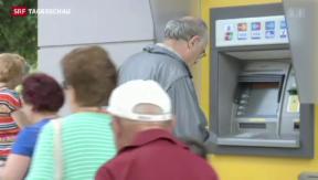 Video «Griechische Banken bluten aus» abspielen
