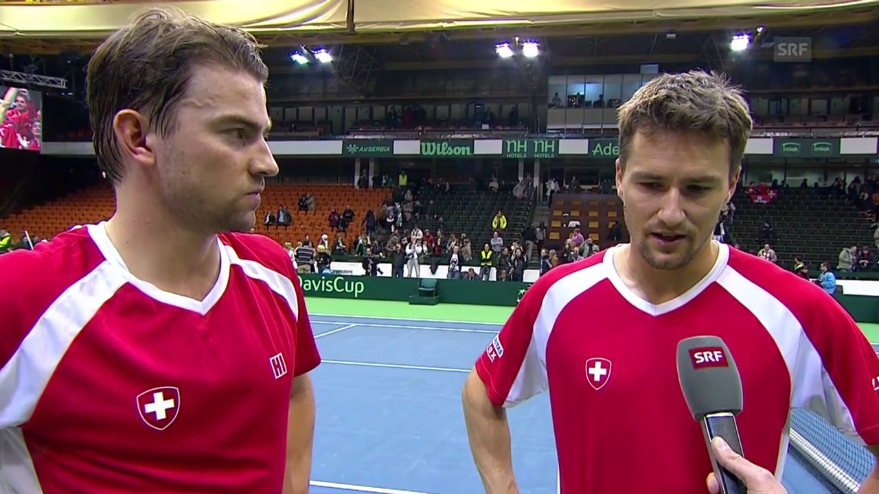 Tennis: Davis Cup, Interview mit Chiudinelli und Lammer