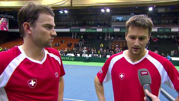 Video «Tennis: Davis Cup, Interview mit Chiudinelli und Lammer» abspielen
