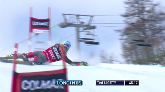Video «Ski alpin: Riesenslalom Männer Val d'Isere, 1. Lauf Ted Ligety («sportlive, 14.12.2013»)» abspielen