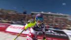 Video «Ski alpin: WM 2015 in Vail/Beaver Creek: Super-Kombi Frauen, Slalom, Michaela Kirchgasser» abspielen