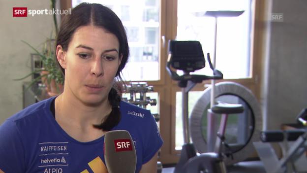 Video «Ski alpin: Dominique Gisin über ihre Verletzung («sportaktuell»)» abspielen