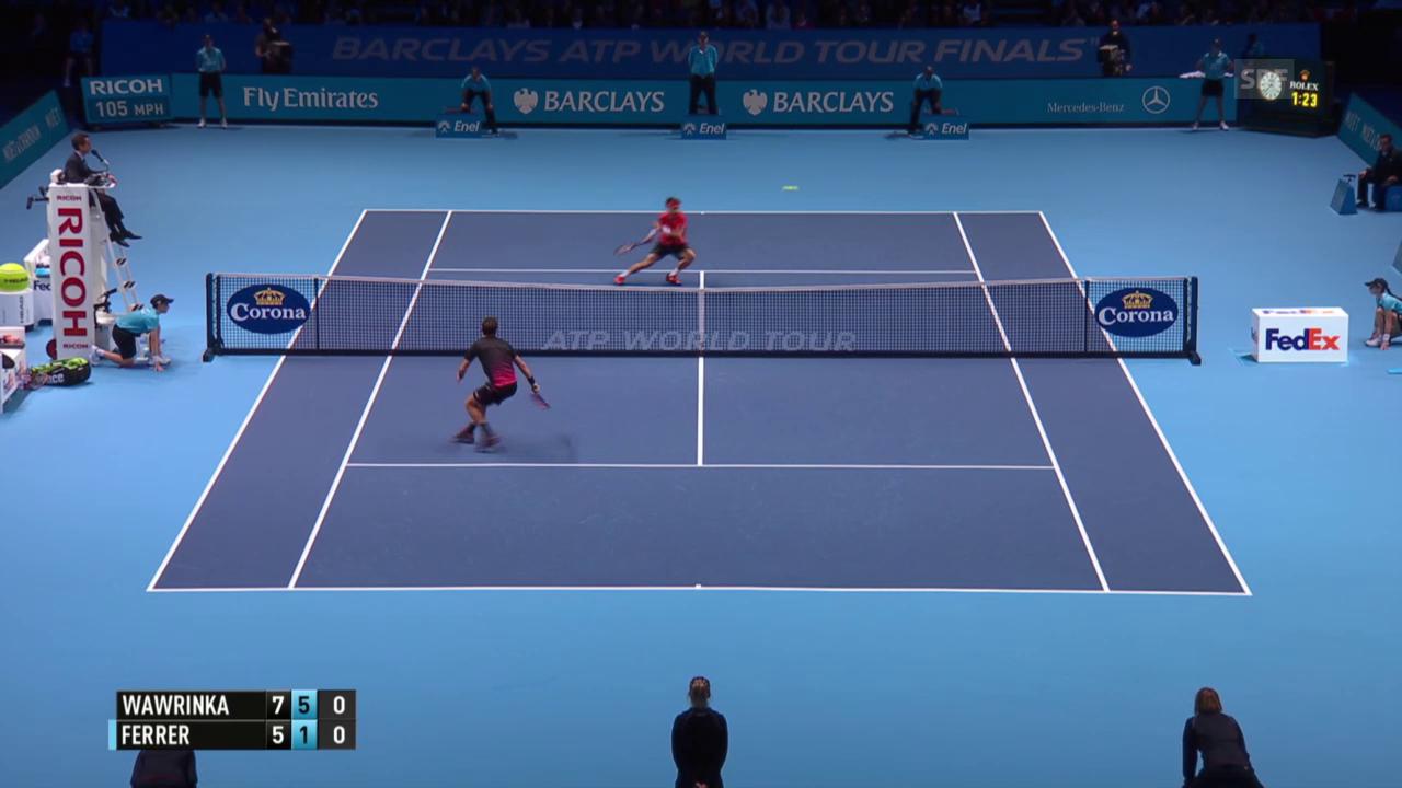 Tennis: ATP Finals, Wawrinka-Ferrer, Zauberschlag Stan