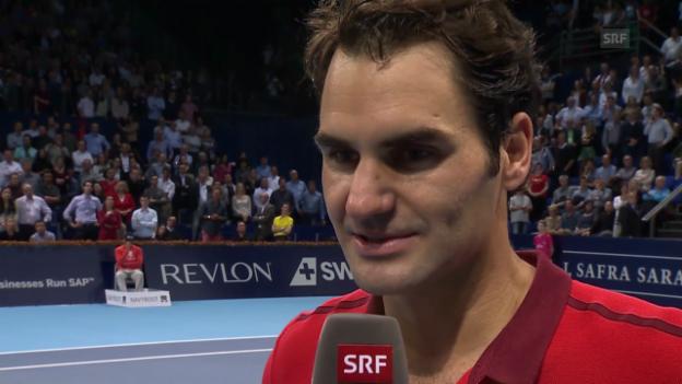 Video «Roger Federer über David Goffin» abspielen