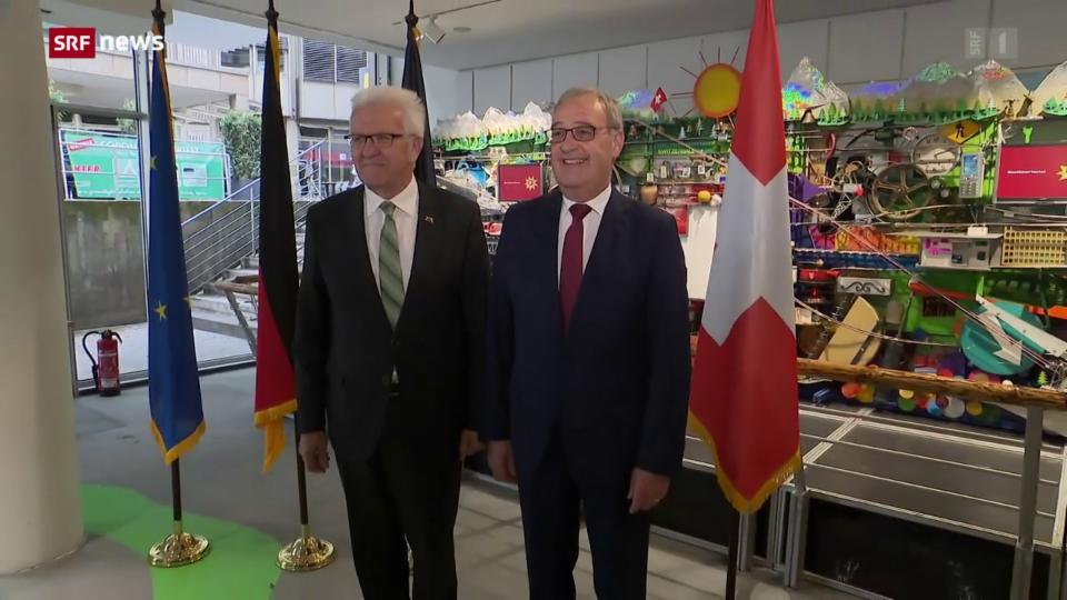 Guy Parmelin trifft Winfried Kretschmann