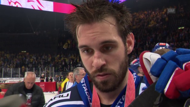 Video «Eishockey: Finalserie ZSC - HCD, Interview mit Luca Cunti» abspielen