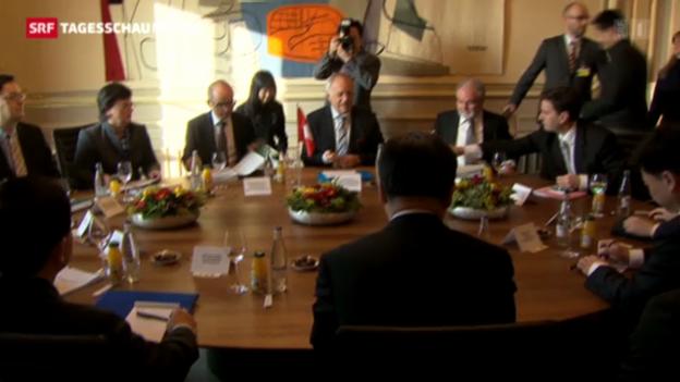 Video «Chinas Vize-Ministerpräsident in Bern» abspielen