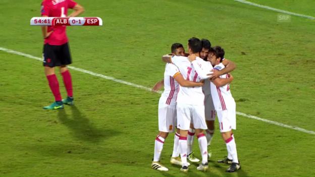 Video «Spanien mit glanzlosem Pflichtsieg in Albanien» abspielen