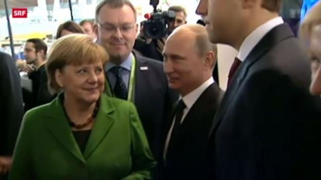 Video «Putin trifft Merkel» abspielen