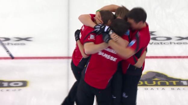 Video «Curling-EM: Final Norwegen - Schweiz, Entscheidende Steine» abspielen