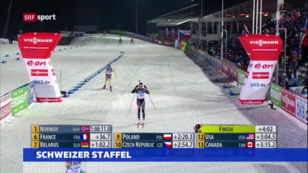 Video «Biathlon-WM: Frauen-Staffel («sportaktuell»)» abspielen