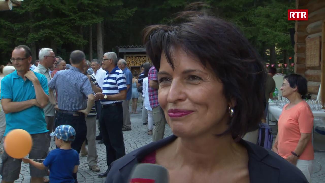 Doris Leuthard sustegna PCD dal Grischun