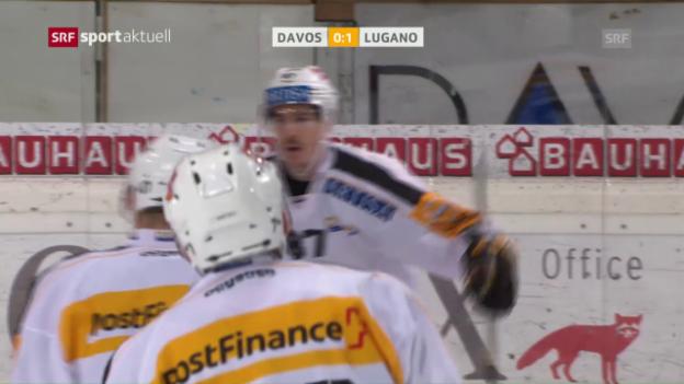 Video «Bürglers Tor reicht dem HC Lugano» abspielen