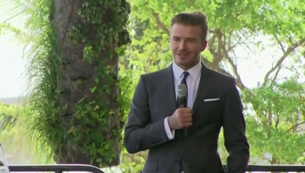 Video «David Beckham über seine Pläne» abspielen