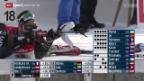 Video «Biathlon: Rang 20 für Gasparin und Weger» abspielen