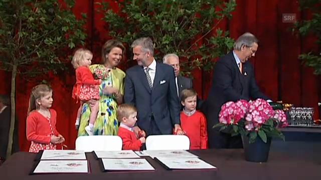 Prinz Philippe und Prinzessin Mathilde