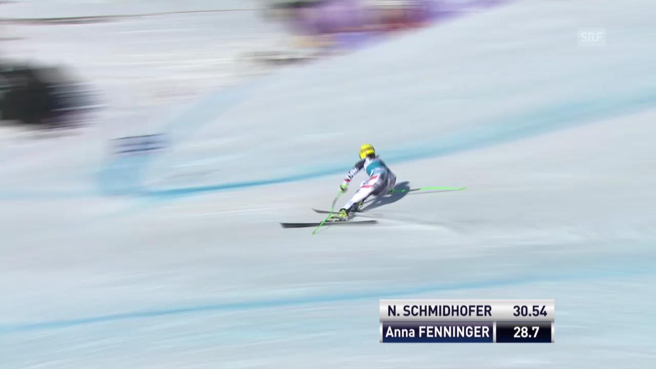 Ski Alpin: Super-G Frauen auf der Lenzerheide, die Fahrt von Anna Fenninger («sportlive», 13.3.2014)