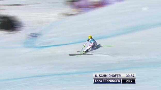 Video «Ski Alpin: Super-G Frauen auf der Lenzerheide, die Fahrt von Anna Fenninger («sportlive», 13.3.2014)» abspielen