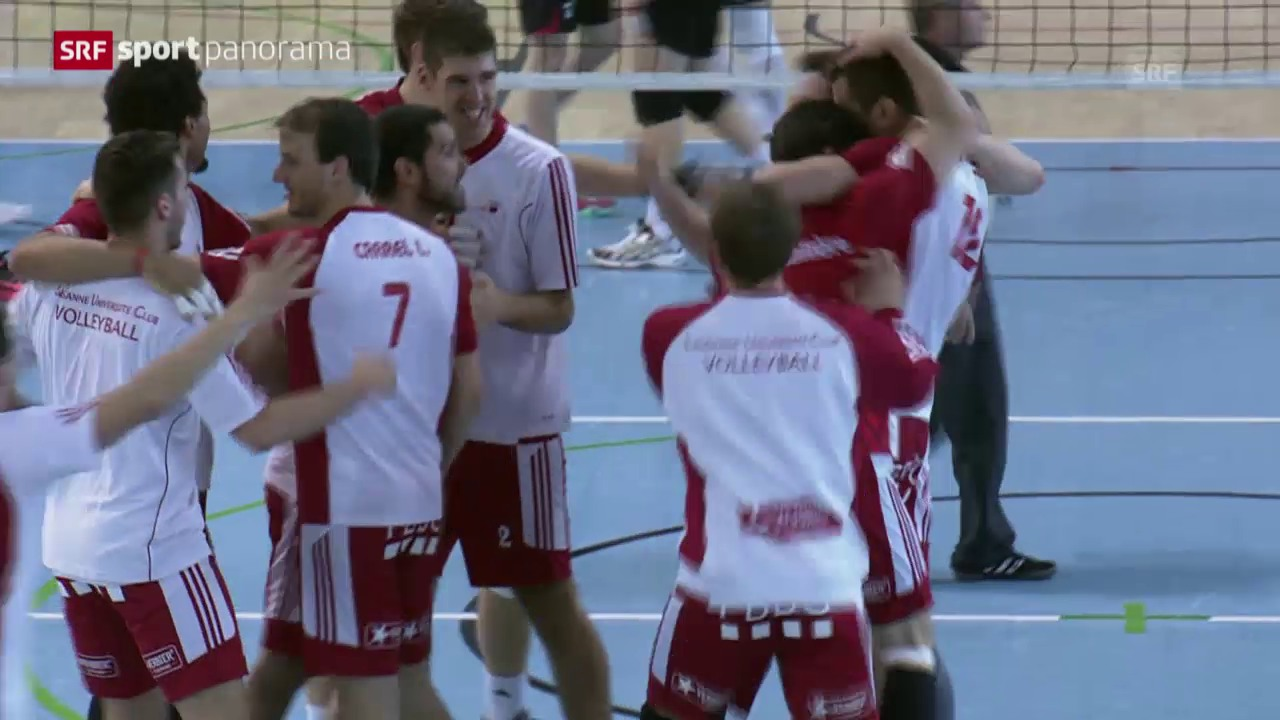 Volleyball: Playoff-Final Männer, Lugano-Lausanne