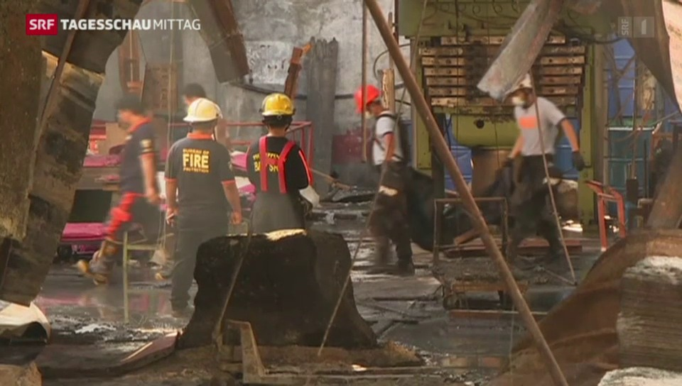 Grossbrand in phillippinischer Fabrik