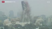 Video «Sprengung des Frankfurter Uni-Turms» abspielen