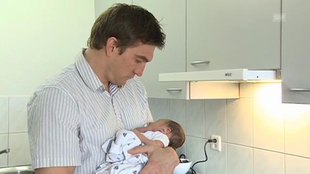 Tobias Grünenfelder über sein neues Leben als Vater