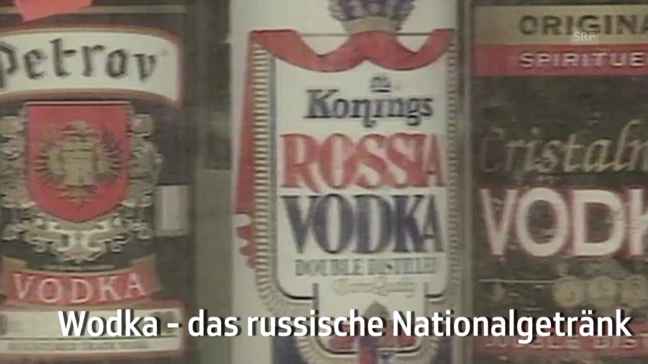Wodka, das russische Nationalgetränk