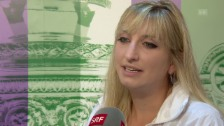 Video «Bacsinszky: «Das fühlte sich etwas blöd an»» abspielen