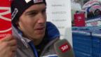 Video «Carlo Janka zeigt sich nach dem Out in der Kombi enttäuscht» abspielen