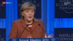Video «Angela Merkel ruft zu Bankenregulierung auf» abspielen