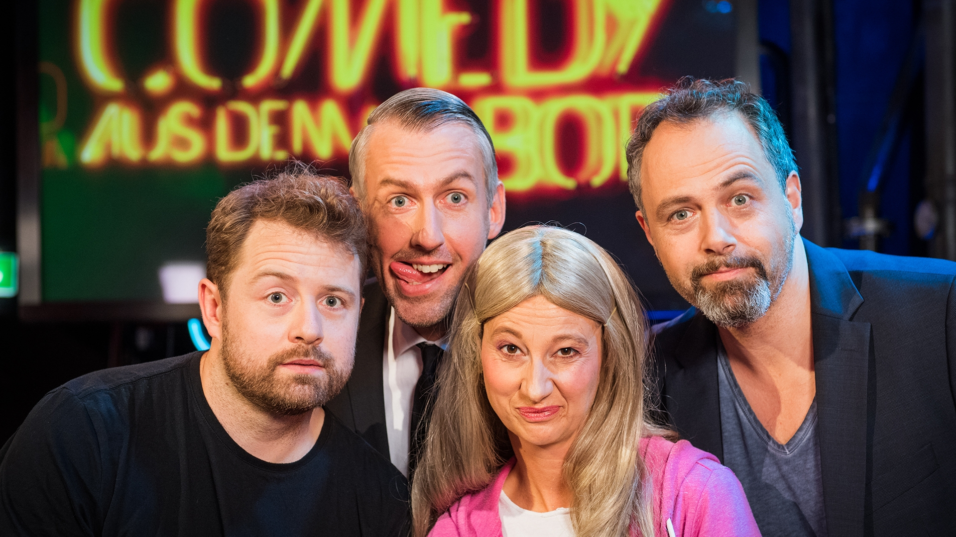 Mit Gabriel Vetter, Sebastian Pufpaff und Margrit Bornet