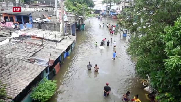 Video «Unwetter in Sri Lanka fordert Opfer» abspielen