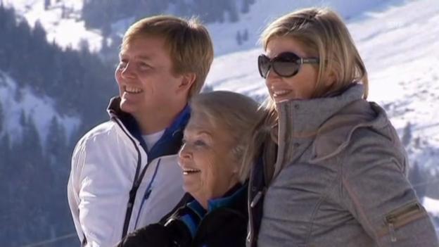 Video «Niederländische Royals beim Fototermin in Lech» abspielen