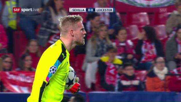 Video «Schmeichel verhindert höhere Niederlage in Sevilla» abspielen