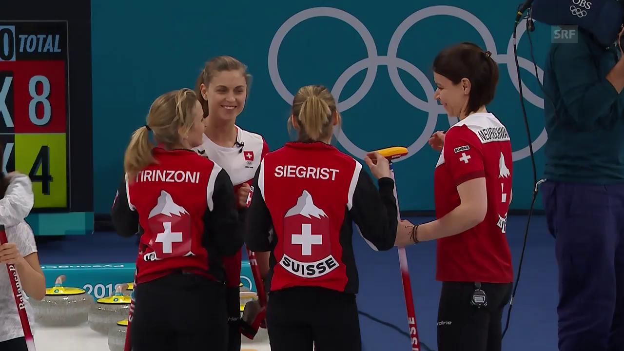 Schweizerinnen schlagen Japan