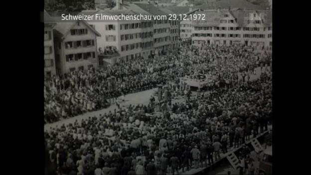 Video «Schweizer Filmwochenschau vom 29.12.1972» abspielen